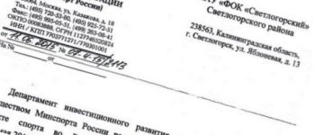 Новый статус для «ФОК«Светлогорский»