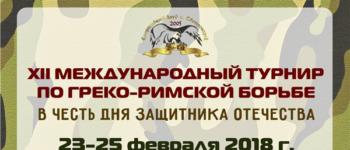XII Международный турнир по греко — римской борьбе в честь Дня защитника Отечества